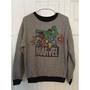 Marvel Grey & Black Graphic Sweatshirt Size Small